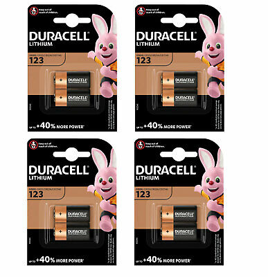 8 X Duracell Cr123 3V Ultra Lithium Photo Battery 123 Dl123A Cr17345 2027 Expiry