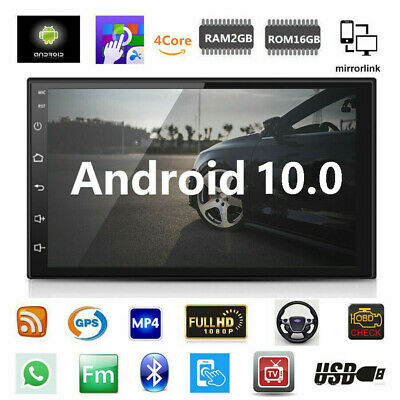 Android 9.1 Car Stereo GPS Navigation Radio Player Double Din WIFI 7""