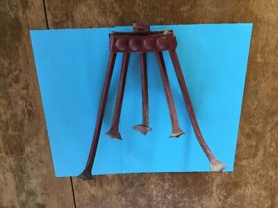 Antique 5 tine Push Plow Garden Cultivator Implement Planet Junior Plow Fingers