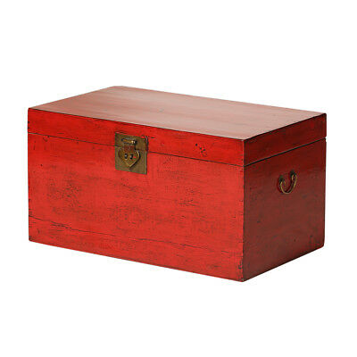 Vintage Red Chinese Chest from Beijing