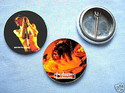 The Stooges- Set Of Two Badges Iggy Pop MC5 David Bowie