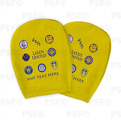 Leeds United FC Official Custom Retro Badges Yellow Car Head Rest Cover LHR007