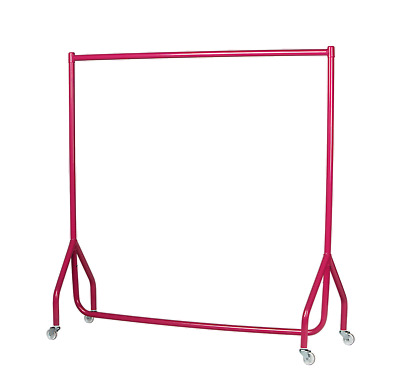 PINK JUNIOR CLOTHES GARMENT RAIL 4ft HIGH 4ft LONG DISPLAY RETAIL SHOP FITTINGS