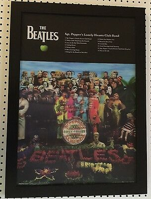 The Beatles SGT Pepper's Lonely Hearts Club Band 3D/Holographic Poster Framed