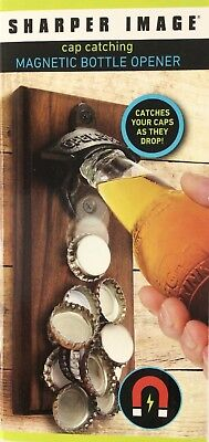 Sharper Image Cap Catching Magnetic Bottle Opener New In Box