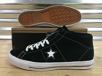 b674972b791a Converse One Star Pro Mid Suede Skate Shoes Black White SZ ( 153472C )