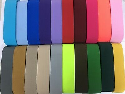 50mm /2 inch wide woven elastic, flat elastic 25 colours, craft sewing woven