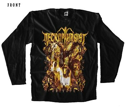 NECROPHAGIST-Epitaph-Death Metal Band, BLACK T-shirt LONG SLEEVE-sizes:S to XXL