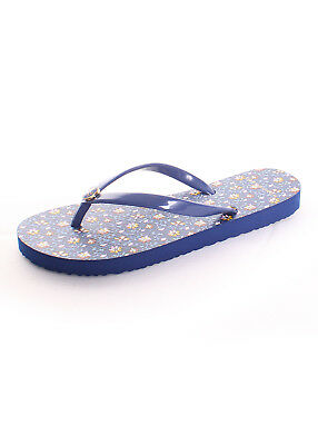 a05ec17a404c Tory Burch Printed Thin Flip Flop in Fresh Blueberry Wild Pansy