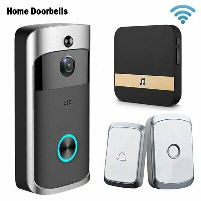 Smart Video Wireless WiFi Door Bell IR Visual Camera Record Call Pager Chime Kit