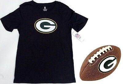 NFL Team Apparel Green Bay Packers Logo T-Shirt Youth Size 2XL + Packer  Football 4e747400f