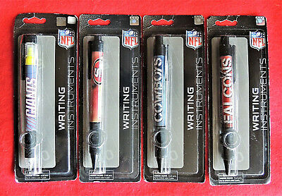 1 Ink Pen Retractable Refillable NFL Football Teams 49ers Cowboys Falcons Giants