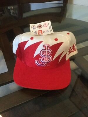 ... free shipping nwt st johns red storm logo athletic sharktooth snapback  hat cap new with tags 4bbdb9b376f8