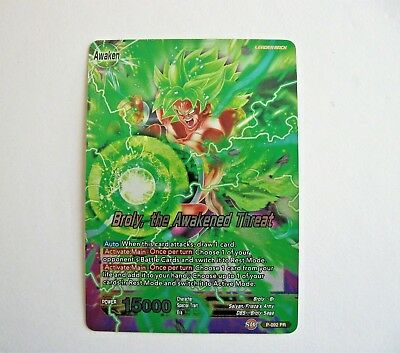 Dragon Ball Super BROLY the AWAKENED THREAT #P-092 PR Foil Promo Leader Tcg !!