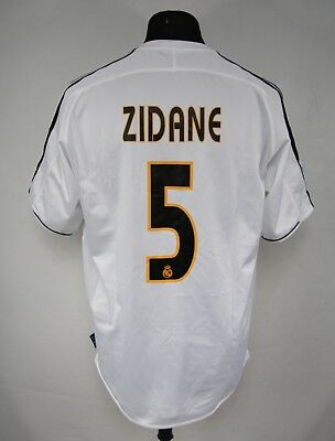 bb6b8e964 ADIDAS REAL MADRID  ZIDANE  5   2003 2004 HOME Football Shirt Jersey size M