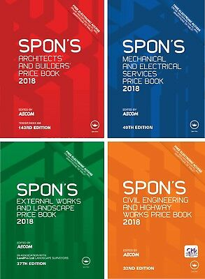 4 Spon's Books - Price Book 2018 🌟 PDF High Quality 🌟 (Quick Delivery)