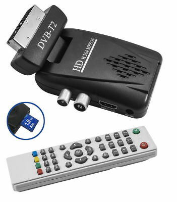 Decoder Digitale Mini Dvbt2 Scart 180 Usb Sd Card Hdmi Hd Terrestre Telecomando