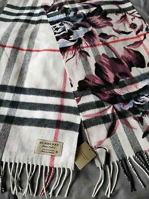 BURBERRY Cashmere Peony Rose Giant Check Scarf Stone Ash Rose 100%Sold Out  Style 79d37143a83