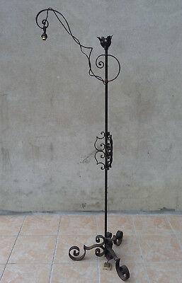 Floor lamp antique forged iron