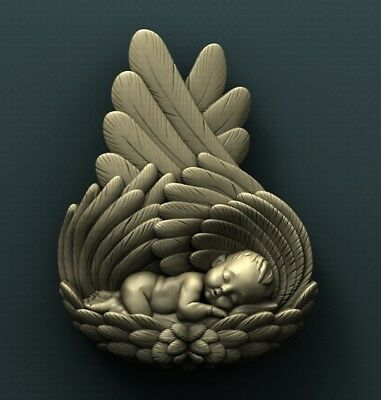 3d STL Model Relief for CNC Router  _ (0256) A little Angel