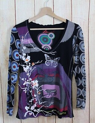 Tg Top T Donna Maglia Shirt M Desigual 44 Estate Canotta Multicolore qTwExHd