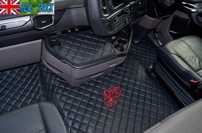 Scania R Series New Generation [ 2017 + ] Truck Eco Leather Floor Set -Black