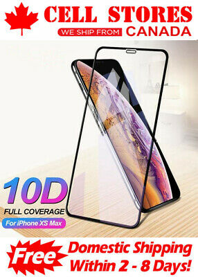 10D Curved Full Cover Tempered Glass Screen Protector for iPhone Xs Max 6.5""