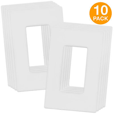 Enerlites Screwless Wall Plate Switch GFCI Rocker Outlet Cover 1-Gang (10 Pack)