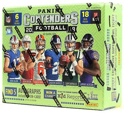 Live Group Break - 2018 Panini Contenders Football Hobby Box - Pick Your Player
