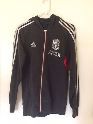 7c1c5996a918 Liverpool FC Adidas Grey and Red Hoodie Soccer Sweatshirt - Men s Small