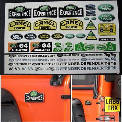 Lot Decal Land Rover DEFENDER Logo Sticker For 1/10 TRAXXAS TRX4 SCX10 RC4WD D90