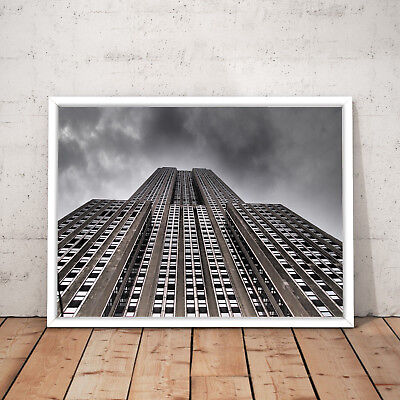 New York City Empire State Building Decor Art Poster Print - A3 A2 A1 A0 Framed