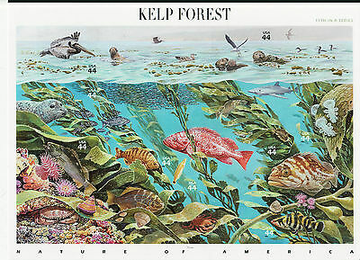 Kelp Forest Stamp Sheet -- Usa #4423, 44 Cent 2009 Nature Of America