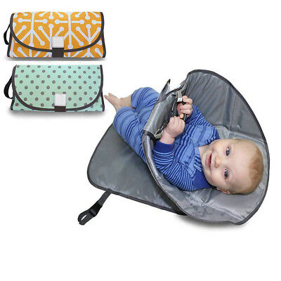 3IN1 Baby Changing Mat Hat Case Clean Hands Pad Diaper Clutch Station Holder
