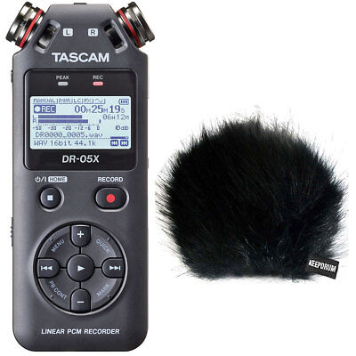 Tascam DR-05X Portable Recorder Dictaphone + Keepdrum fur Wind Protector
