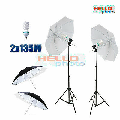 Photography Umbrella Soft Continuous Lighting Stand Studio Diffuser Reflector