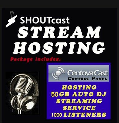 Shoutcast hosting/streaming 128KPS (Limited Accounts)