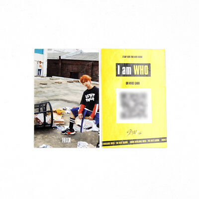 [Stray Kids]2nd mini album I am WHO Official QR Photocard/BEHIND ver./FELIX