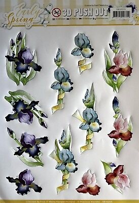 A4 DIE CUT 3D PAPER TOLE DECOUPAGE Push Out Early Spring Flowers SB10225