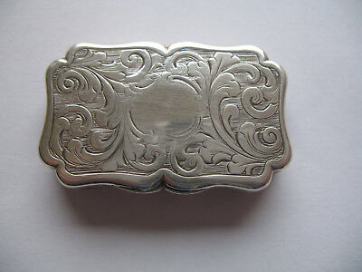 Victorian Antique Sterling Silver Vinaigrette by Nathaniel Mills c1841