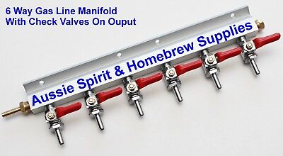 Brand New Gas Manifold 6 Way Distribution With Checkvalves Great for Home Brew