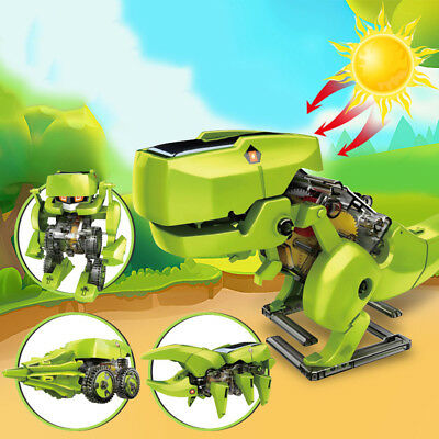 Transformation Using Solar Energy Robot/Dinosaur/Drill/Insert DIY Assembled Toy