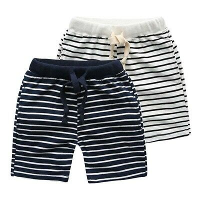 Kids Shorts Striped Fashion Trousers Children Pants For Baby Boys Beach Loose