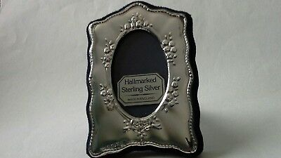 Sterling Silver 925 Miniature Fit 54Mm X 35Mm Oval Photo Frame Fully Hallmarked.