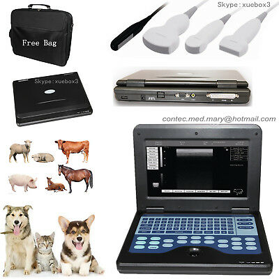 Veterinary VET Portable ultrasound scanner Laptop machine+3 Probes For Animal CE