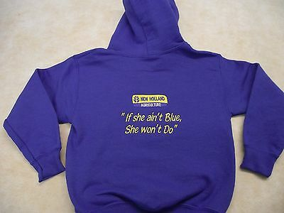 New Holland Tractor T5 T6 T7 Kids Hoodie Style 2 Clearance