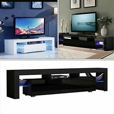 High Gloss TV Stand Unit Cabinet Console Furniture w/LED Shelves 2/3 Drawers MA