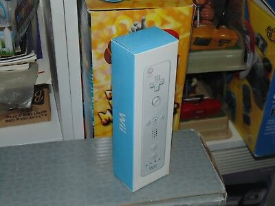 Nintendo Wii Remote Controller NEW Official OEM Authentic White / Blue Box