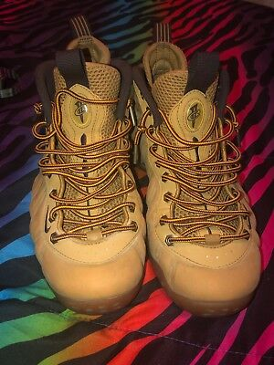 buy popular a0f0c 56e54 NIKE AIR FOAMPOSITE One Suade Wheat/Tan/Brown Haystack Foams Size 8.5