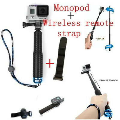 19'' Waterproof Hand Grip Adjustable Selfie Stick Handheld Monopod For Gopro 6 7